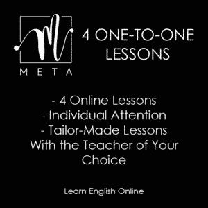 4 One-to-One lessons poster