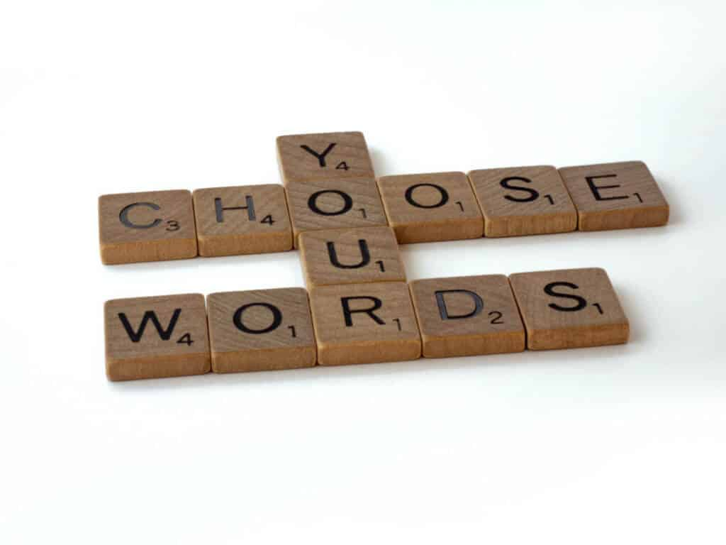 Choose the words you want to practice saying to your pet