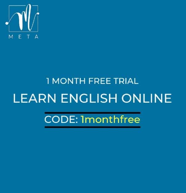 1 month free trial subscription to Learn English Online