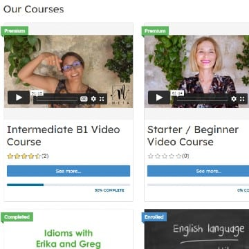 many courses to choose from