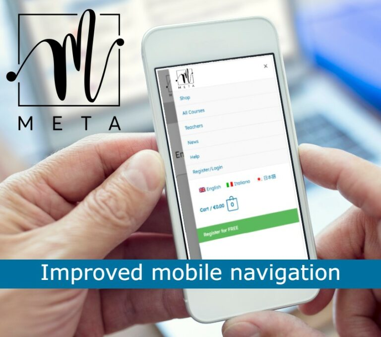 Changes to META online website navigation, with particular focus on mobile accessibility